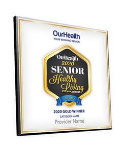 OurHealth Senior Living Award Plaque by NewsKeepsake
