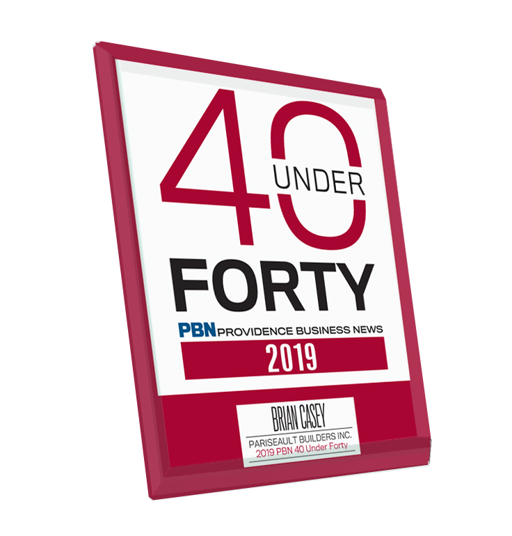 Providence Business News 40 Under Forty Plaque Award - Glass