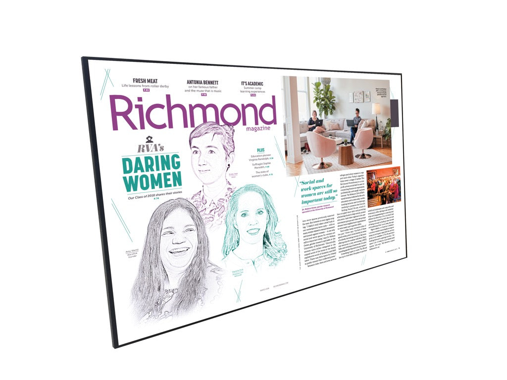 "Richmond Magazine Cover / Article Plaque - 18"" x 12"""