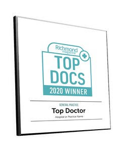 "Richmond Magazine ""Top Docs"" Logo Award Plaque by NewsKeepsake"