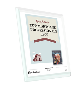 "San Antonio Magazine ""Top Mortgage Professionals"" Glass Cover Award Plaque by NewsKeepsake"