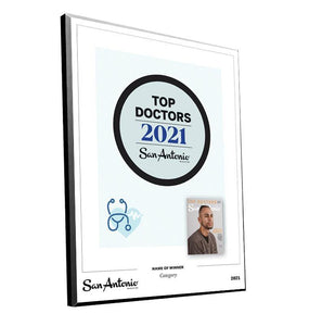 "San Antonio Magazine ""Top Doctors"" Mounted Archival Award Plaque by NewsKeepsake"