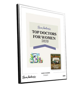 "San Antonio Magazine ""Top Doctors for Women"" Mounted Archival Award Plaque by NewsKeepsake"
