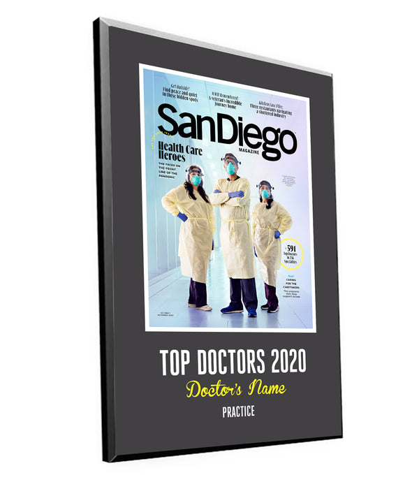 "San Diego Magazine ""Top Doctors"" Award Plaques by NewsKeepsake"