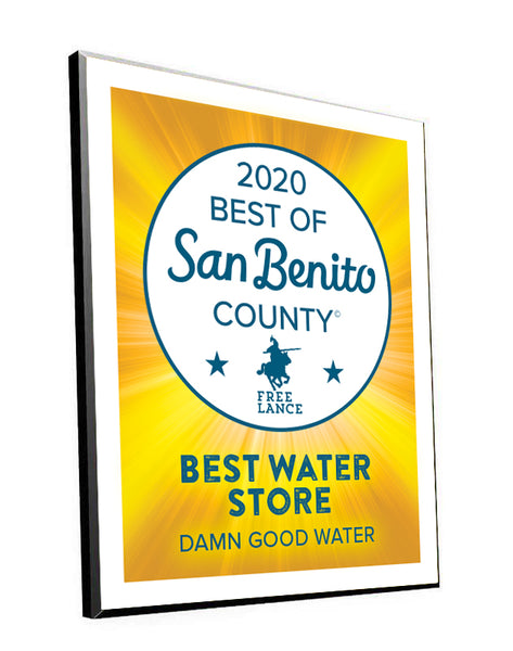 """Best of San Benito County"" Award Plaque"