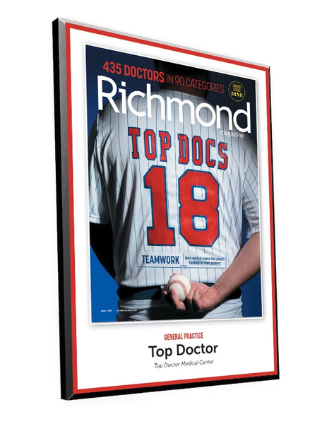 "Richmond Magazine ""Top Docs"" Cover Award Plaque"
