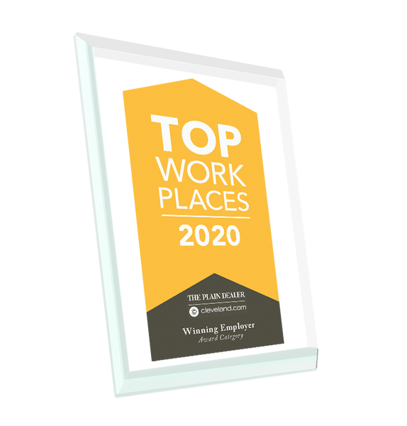 Top Workplace Award Plaque | Crystal Glass
