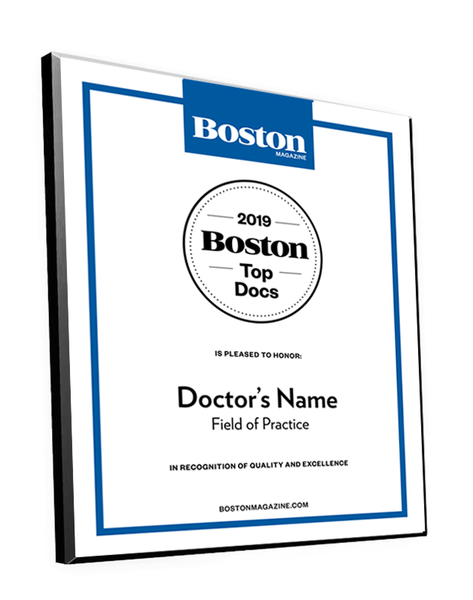 Boston Magazine Top Docs Plaques