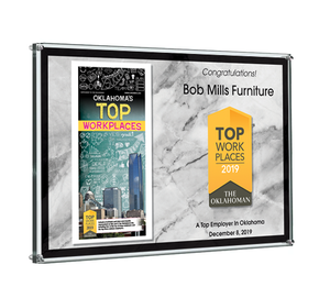 The Oklahoman Top Workplaces Plaque - Acrylic Standoff by NewsKeepsake