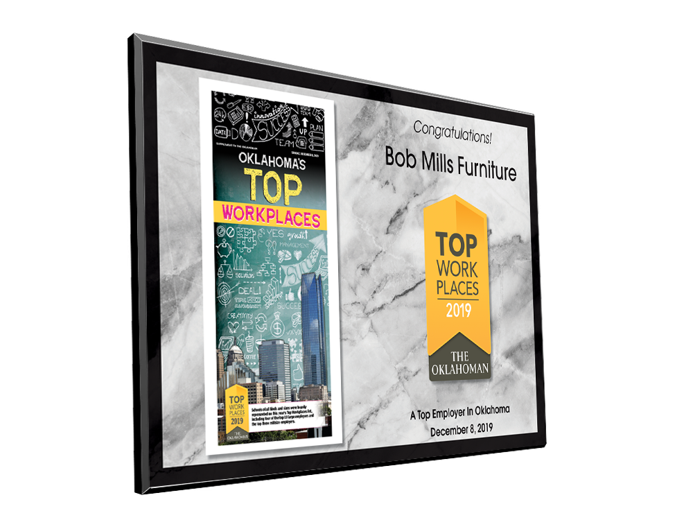 The Oklahoman Top Workplaces Plaque