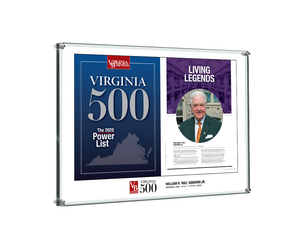Virginia 500 Cover with Profile Plaque - Acrylic Standoff