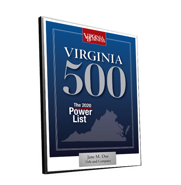 Virginia 500 Cover Award Plaque - Modern Wood Mount
