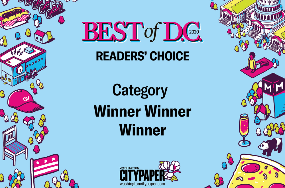 """Best of D.C."" Award Promo Labels by NewsKeepsake"