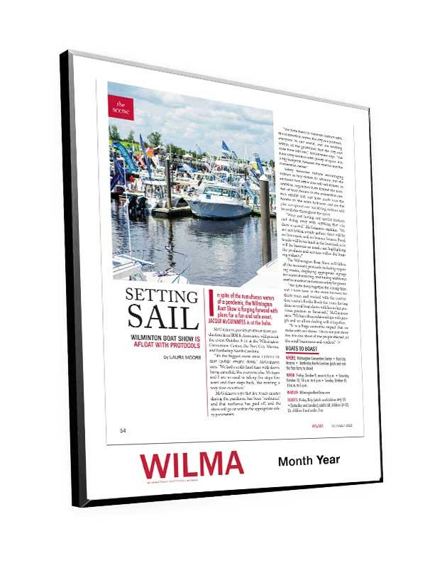 WILMA Single-Page Cover or Article Plaques