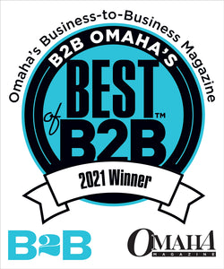 B2B Omaha's Best of B2B Award Window Decals