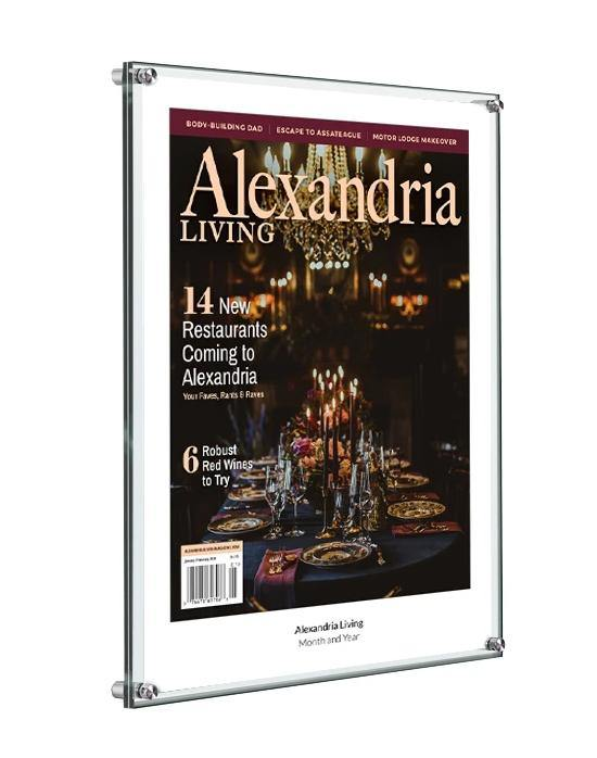 Alexandria Living Magazine Cover Plaque - Acrylic Standoff by NewsKeepsake
