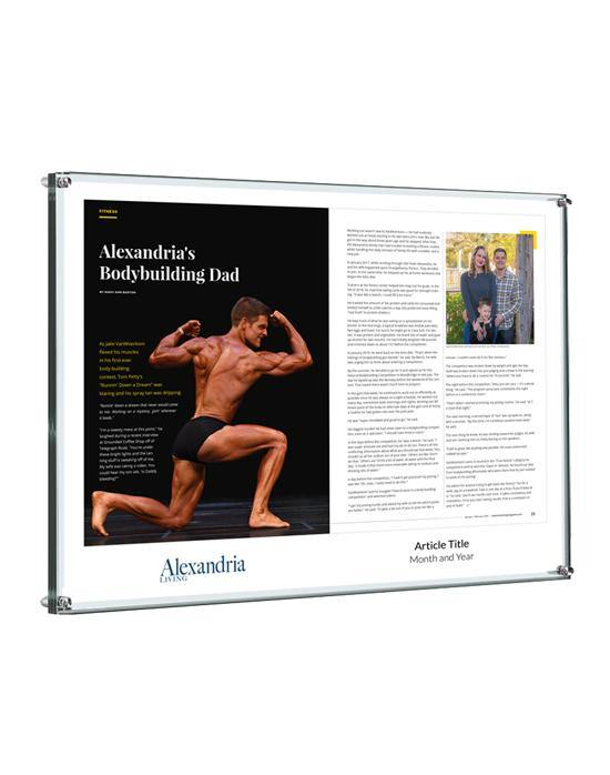 Alexandria Living Magazine Article Plaque - Acrylic Standoff