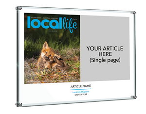 Local Life Article & Cover Spread Acrylic Standoff Plaque