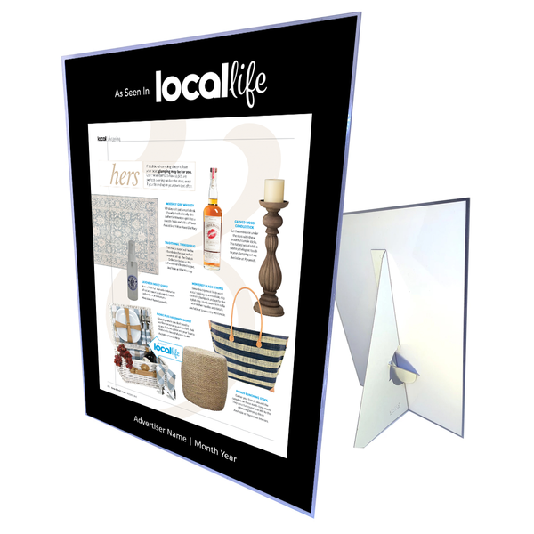 Local Life Advertiser Counter Card