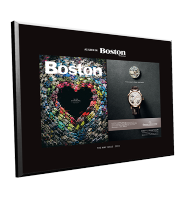 Boston Magazine Advertiser Countertop Display Plaques