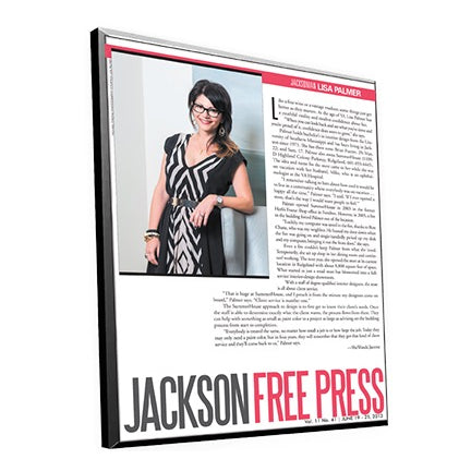 Jackson Free Press Article Plaque