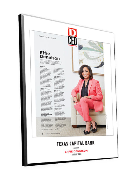 D CEO Single-Page Article Plaques by NewsKeepsake