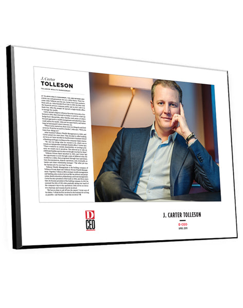 D CEO Two-Page Article Spread Plaques