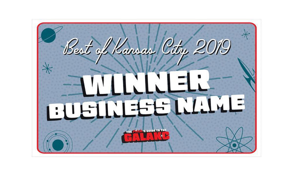 """Best of KC"" Award Banner"