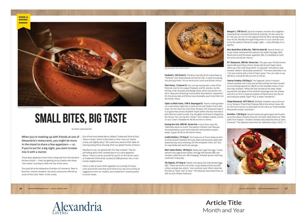Alexandria Living Magazine Best Apps Reprint