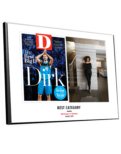 "D Magazine ""Best Of"" Cover Plaques"