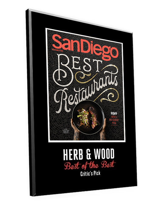 "San Diego Magazine ""Best Restaurants"" Award Plaques"