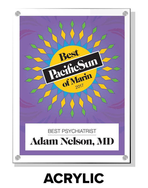 """Pacific Sun: Best of Marin"" Award Plaques"