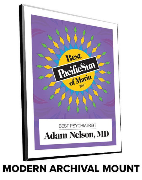 """Pacific Sun: Best of Marin"" Award Plaques by NewsKeepsake"