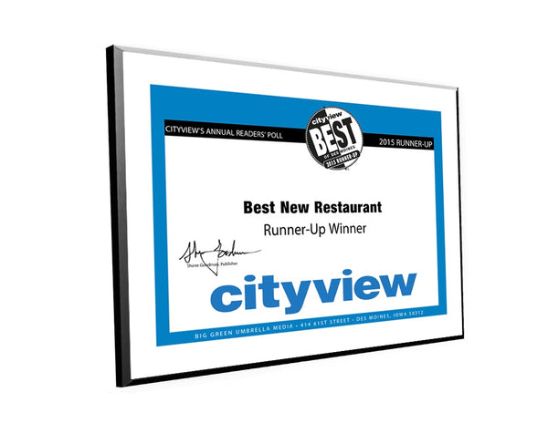 "City View ""Best of Des Moines"" Plaques by NewsKeepsake"