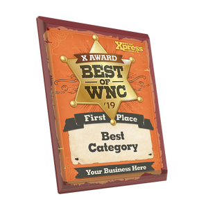 """Best of WNC"" Award Plaque - Glass by NewsKeepsake"