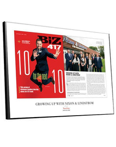 Biz 417 Article & Cover Spread Plaques