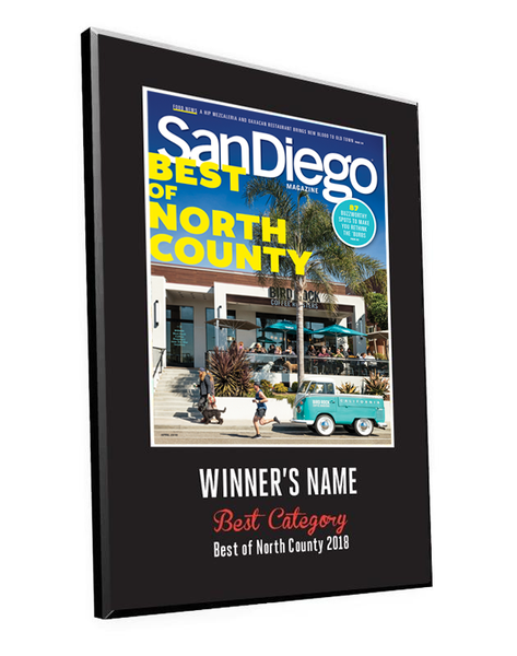 "San Diego Magazine ""Best of North County"" Award Plaques"