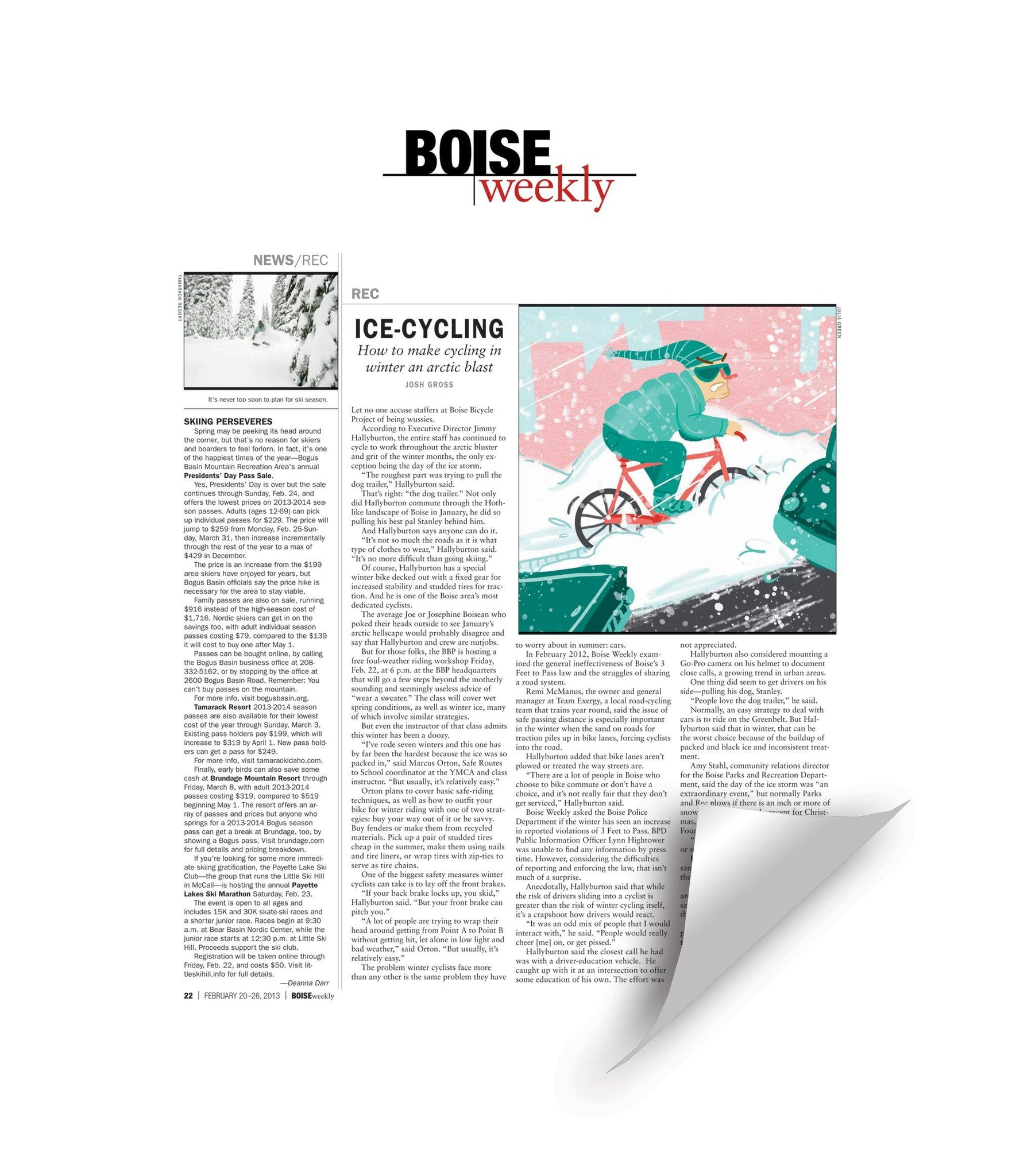 Boise Weekly Article Reprint