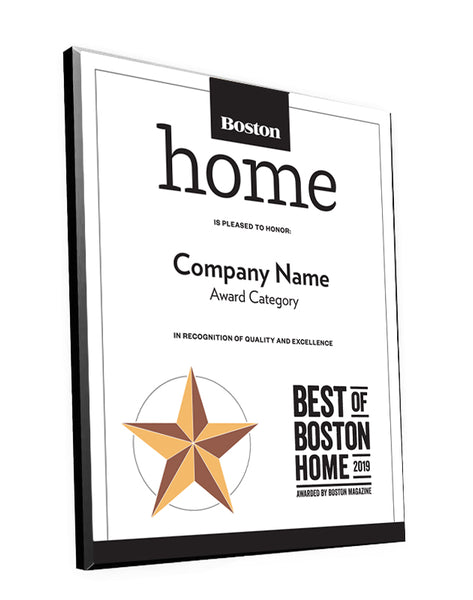 """Best of Boston Home"" Plaques by NewsKeepsake"