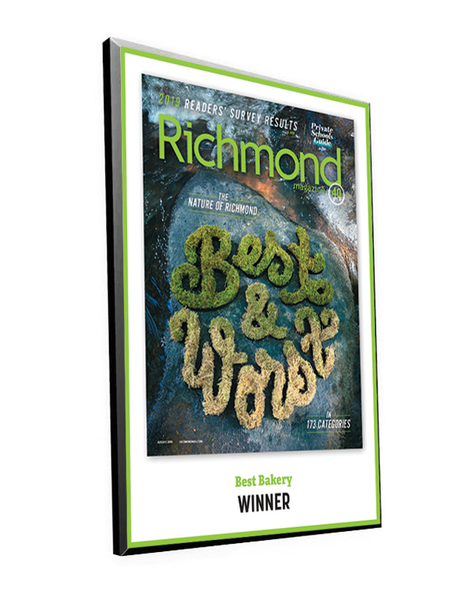 "Richmond Magazine ""Best & Worst"" Cover Award Plaque"