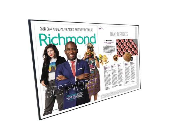 "Richmond Magazine ""Best & Worst"" Cover / Article Plaque - 18"" x 12"""
