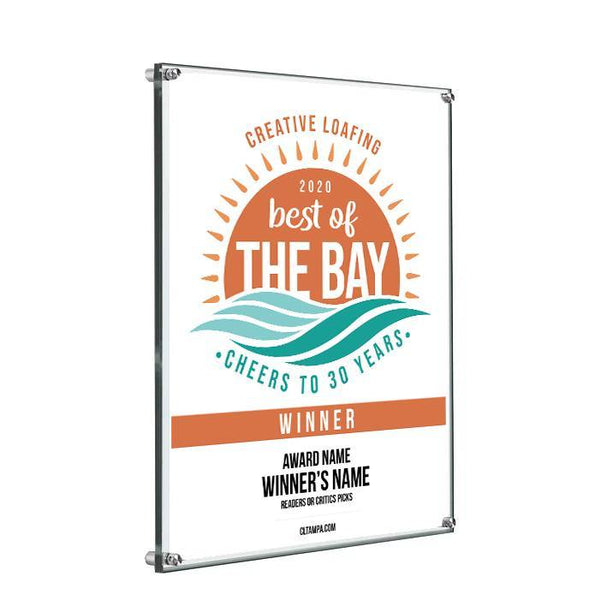 CL Tampa Bay Best of the Bay Plaque | Acrylic Standoff by NewsKeepsake