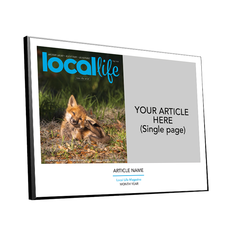 Local Life Article & Cover Spread Plaques by NewsKeepsake