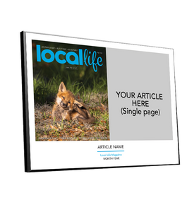 Local Life Article & Cover Spread Plaques