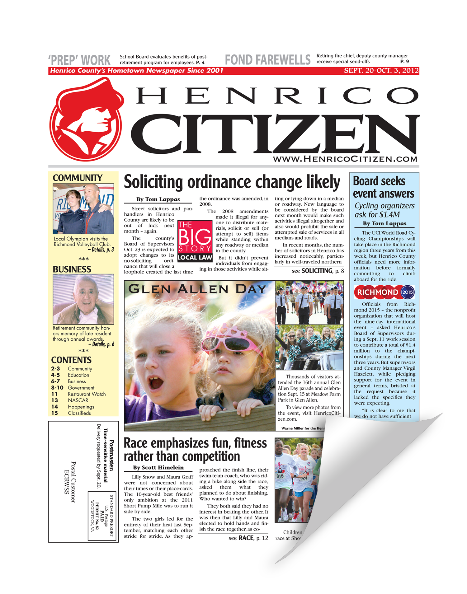 Henrico Citizen Cover Reprint by NewsKeepsake