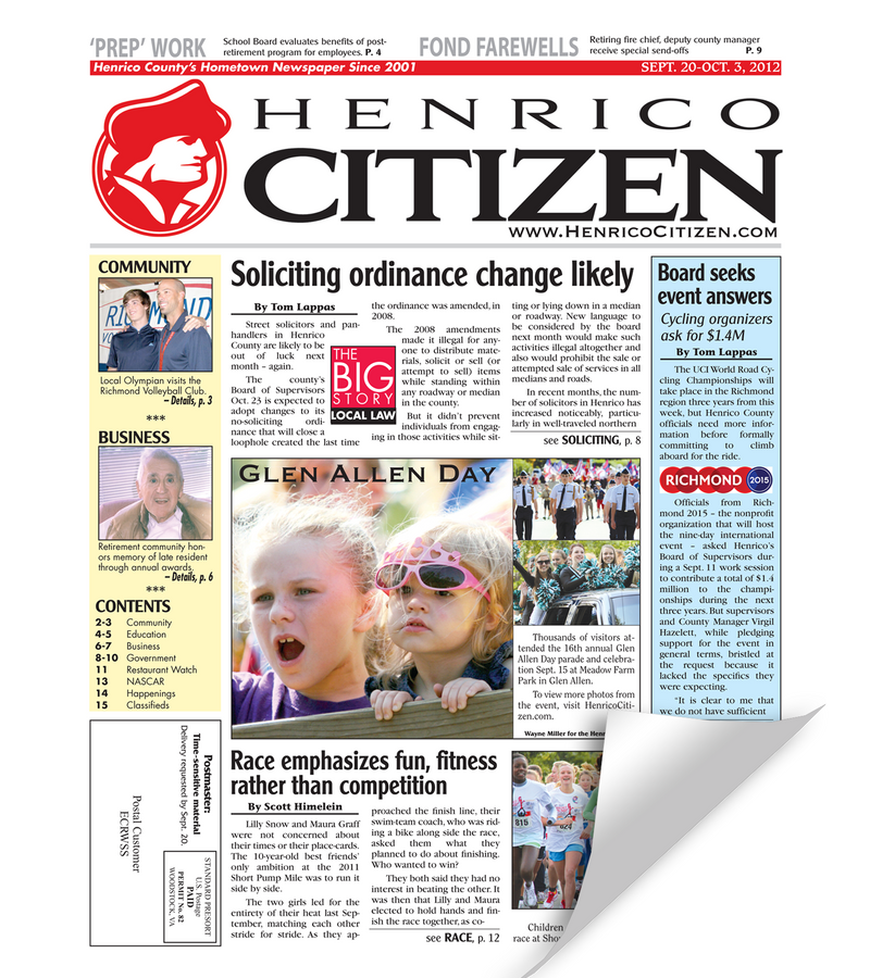 Henrico Citizen Cover Reprint
