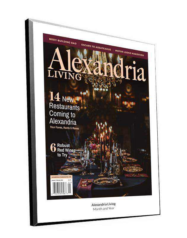 Alexandria Living Magazine Cover Plaque - Modern Wood Mount