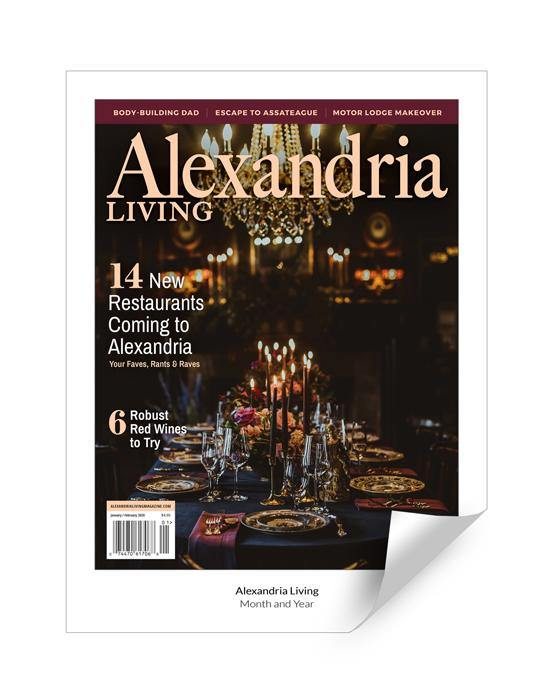 Alexandria Living Magazine Cover Reprint by NewsKeepsake