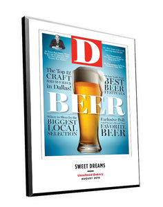 D Magazine Cover Plaques by NewsKeepsake