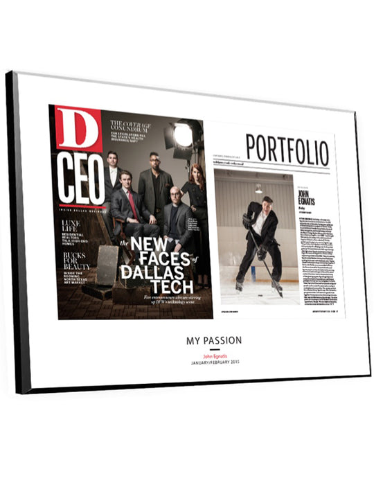 D CEO Article & Cover Spread Plaques